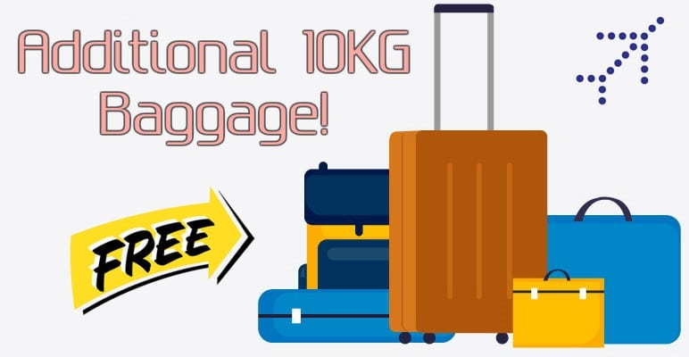 Indigo Additional 10KG Baggage offer