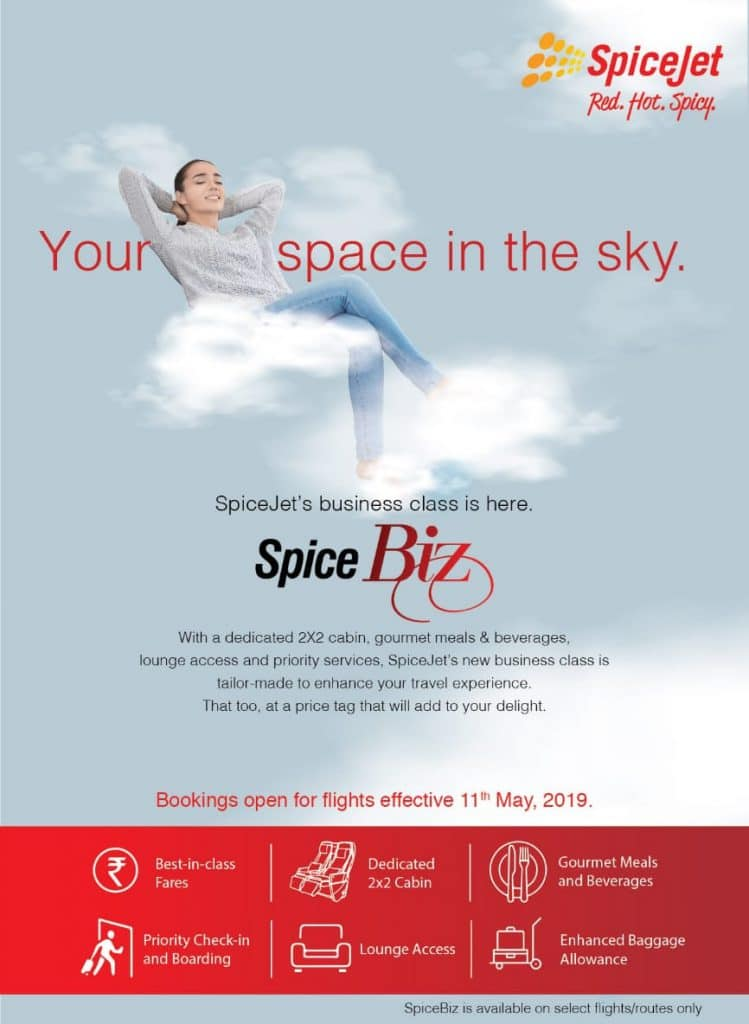 SpiceJet Launches Business Class - Travel Insides