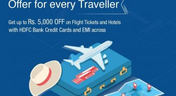 HDFC Offer For Every Traveller – Up to 5000 off