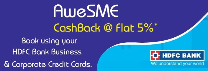 Indigo Cashback Offers 6E SME HDFC Bank Offer
