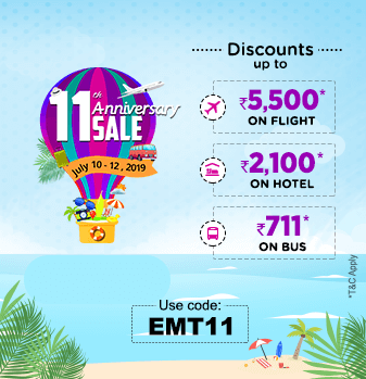 EaseMyTrip 11th Anniversary Promo Code