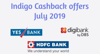 Indigo Cashback offers July 2019, Save up to 2000 Rs.