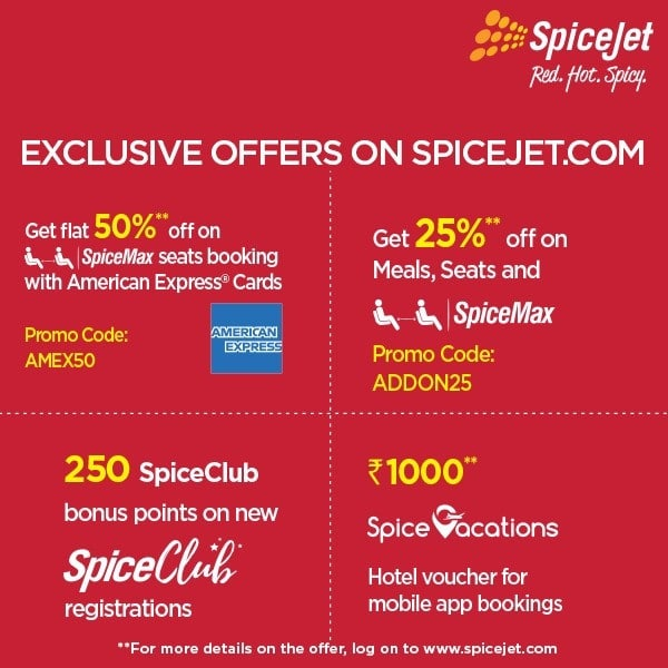 Spicejet Exclusive Offers