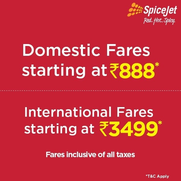 Spicejet Monsoon Sale