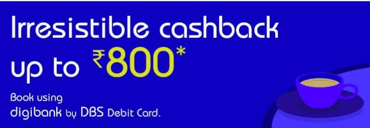 Indigo Cashback Offers digibank by DBS Offer