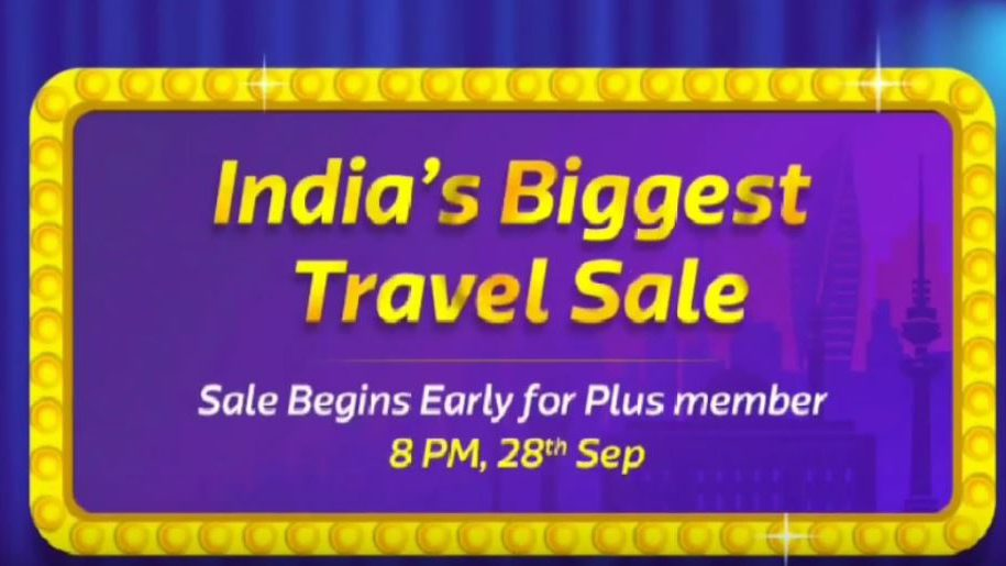 Flipkart India's Biggest Travel Sale, Offer Flat 25% Discount