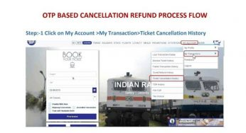 Indian Railways Starts New OTP-Based Refund of Cancelled Tickets