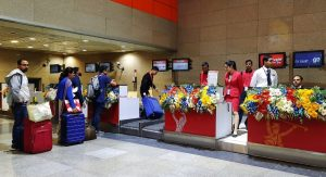 Check-in at New Delhi metro station