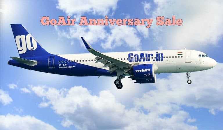 GoAir Anniversary Sale Offer